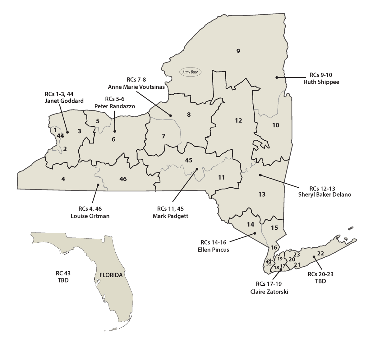 Retiree Services Map