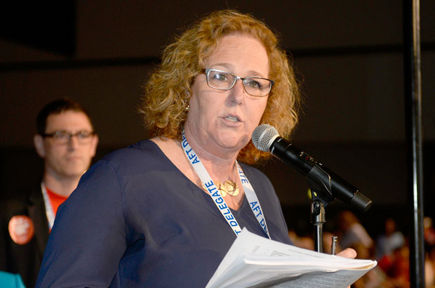 Karen Magee at AFT Convention