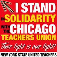 I stand in solidarity with the Chicago teachers union