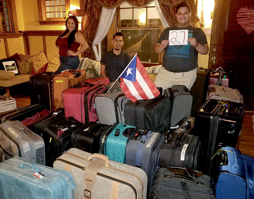 suitcases for san juan