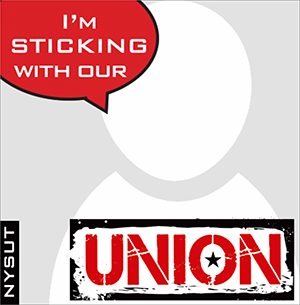 i'm sticking with our union