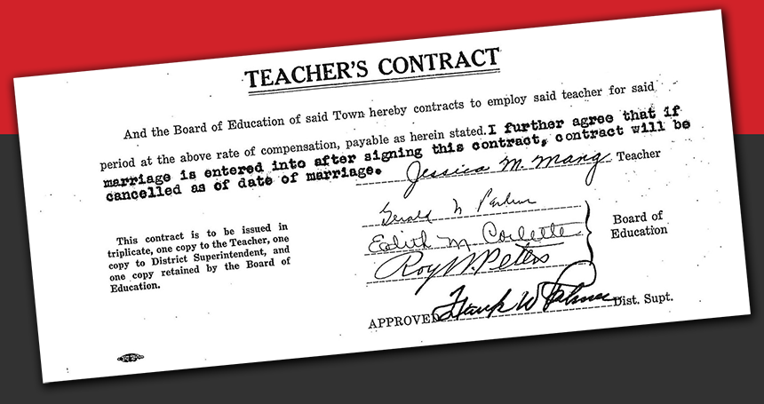 teacher's contract 1940