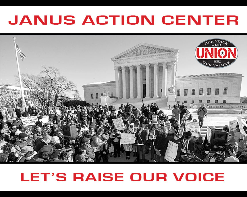 Janus Action Center. Let's raise our voice.