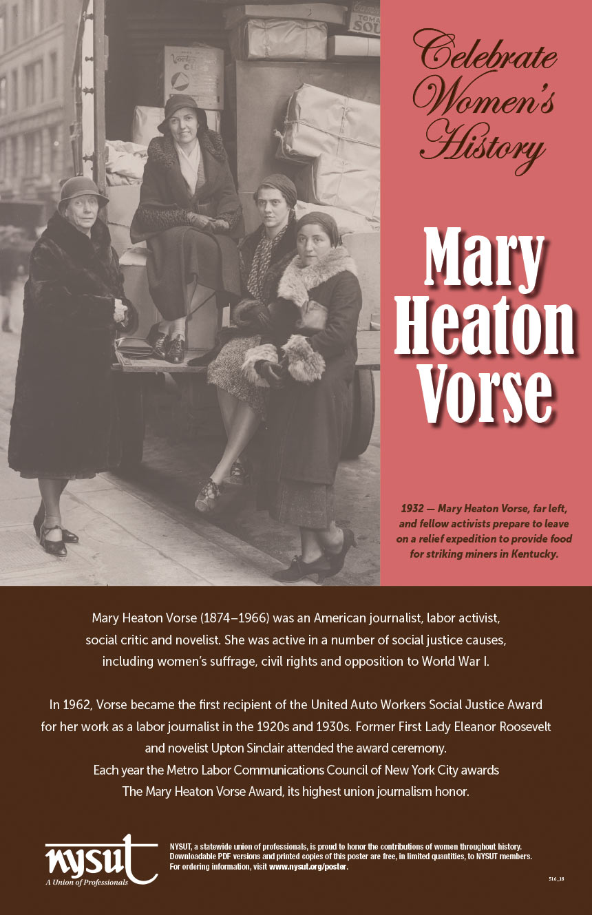 mary heaton vorse poster