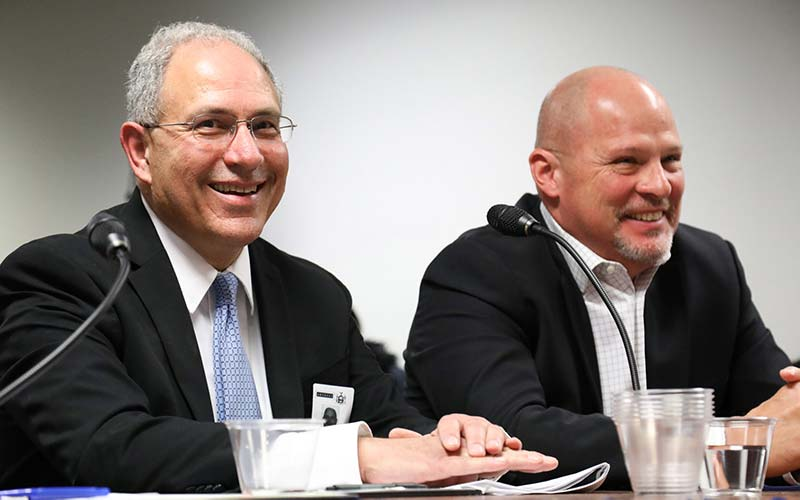Andy Pallotta and Michael Mulgrew