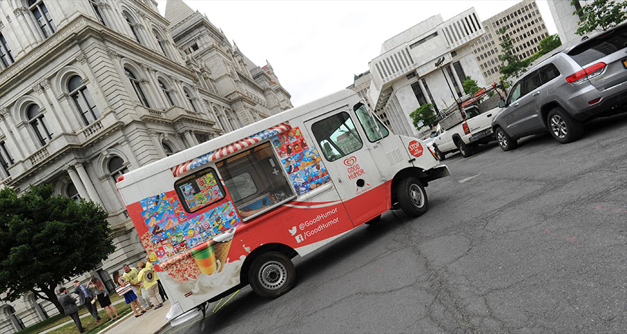 ice cream truck at capitol