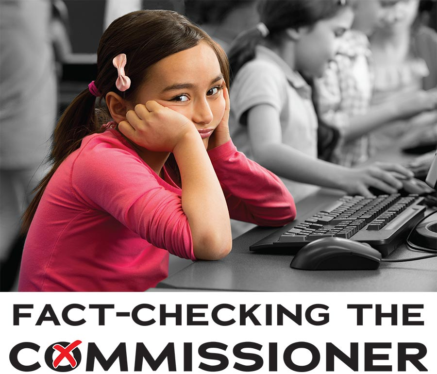 fact checking the commissioner