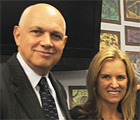 NYSUT's Dick Iannuzzi with Kerry Kennedy.