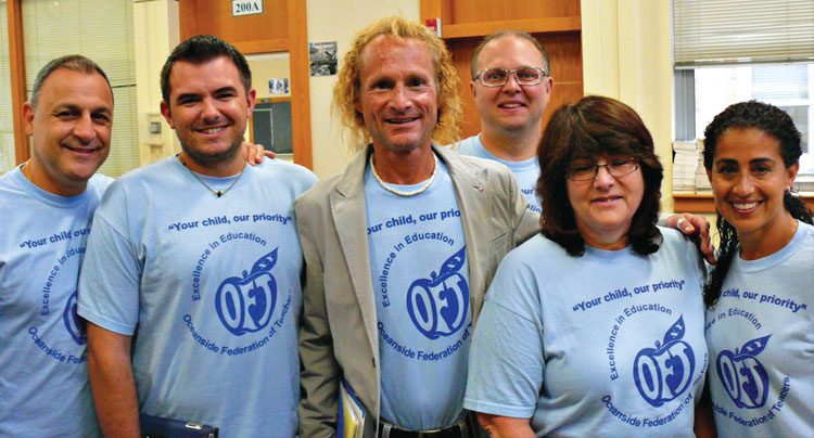 Oceanside Federation of Teachers greets new members