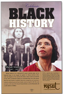 nysut black history month poster highlights the life and career of singer marian anderson
