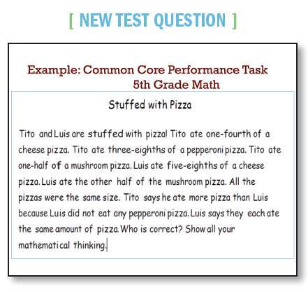 common core new test question