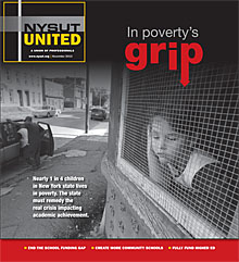 nysut united cover - in poverty's grip- november 2013 ""