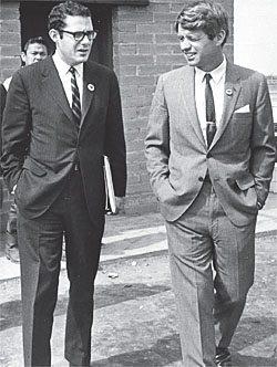 Peter Edelman, U.S. Sen. Robert F. Kennedy in the mid 1960s.