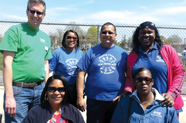 Standing, from left: Alphonse Persico, sixth grade teacher and SEPTA first vice president; Monifa Salako, HCTA first vice president; Elias Mestizo, HCTA president; Genell Bradley, HCTA Community Outreach chair. Sitting, from left: SEPTA Co-president Beverly Barr and Emma Walker, SEPTA corresponding secretary.