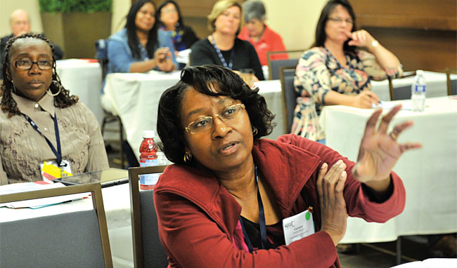 Carmen Shepard, member of the Rochester Association of Para-professionals, was among the 210 SRP leaders from 62 locals around the state who attended NYSUT's 35th annual SRP Leadership Conference this fall.