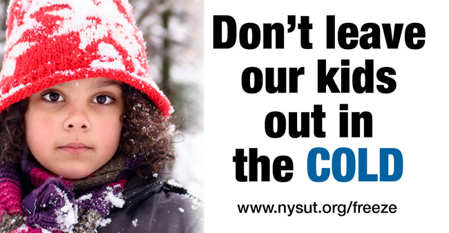 NYSUT's multi-media advertising campaign warned lawmakers not to ignore the needs of children across the state.