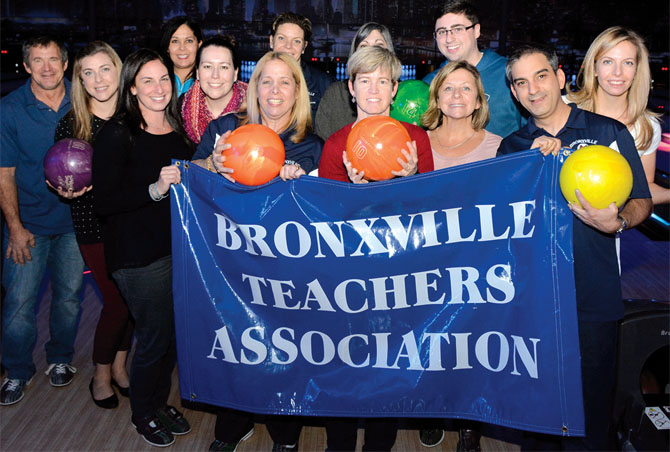 Members of the Bronxville Teachers Association help raise $7,000 at the third annual NYSUT Bowling Extravaganza to support Project Share. Local unions from the lower Hudson Valley fielded 87 teams at the Mount Kisco event.