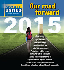 NYSUT United December/January cover