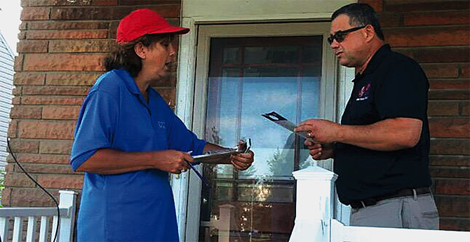 Buffalo educators go door to door to tell the truth about public schools