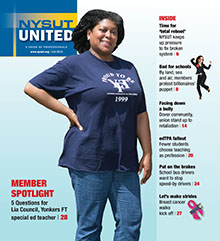 NYSUT United September 2015 cover