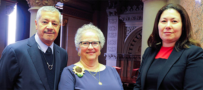 New Regents, from left, Luis O. Reyes, Elizabeth Smith Hakanson and Nan Eileen Mead.