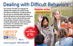 Dealing with Difficult Behaviors - NYSUT's first online seminar