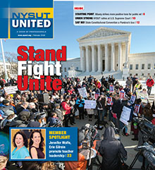 NYSUT United February 2016 cover