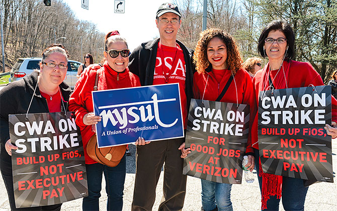 NYSUT members across the state, including in Valhalla, stood shoulder to shoulder with their brothers and sisters. Their presence on picket lines and contributions to the strike fund were immeasurable. Be the union!