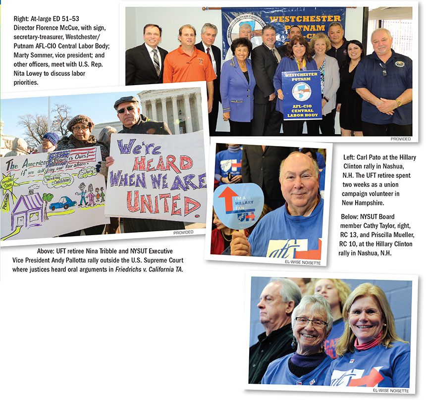 Retirees in action • Joining the fight for public education