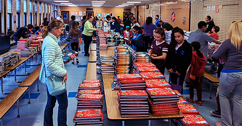 North Babylon Teachers Organization, led by President Kathryn Dein, distributed 44,000 free books to the community and to district classrooms.