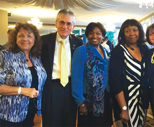 From left: Florence McCue, NYSUT Board member; Marty Sommer, RC 16; Sen. Andrea Stewart Cousins, D-Yonkers; and Deborah Collier, RC 16 attend the AFL-CIO Celebration of Labor.