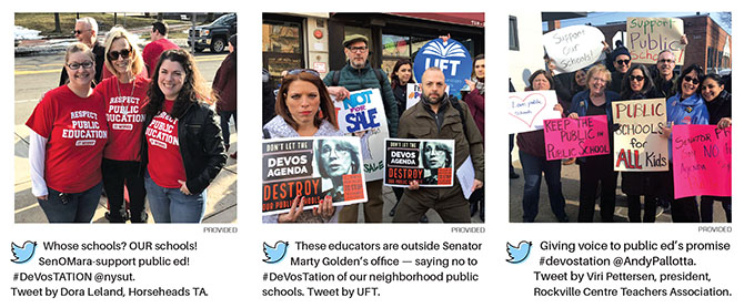 NYSUT members called, picketed, emailed and faxed their elected representatives and NYSUT's legislative staff fought hard to make sure the final 2017–18 state budget provided incremental victories for public school advocates and higher education, and stopped some of the worst ideas floating around the Capitol.