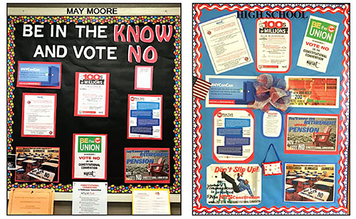 Deer Park Teachers Association, led by President Bruce Sander, kicked off a friendly competition to spread the word about the importance of voting no on a state constitutional convention.