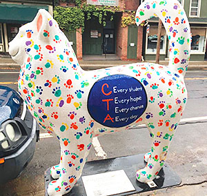 From Memorial Day through Labor Day, visitors to the town and village of Catskill enjoyed about 50 decorated fiberglass felines.