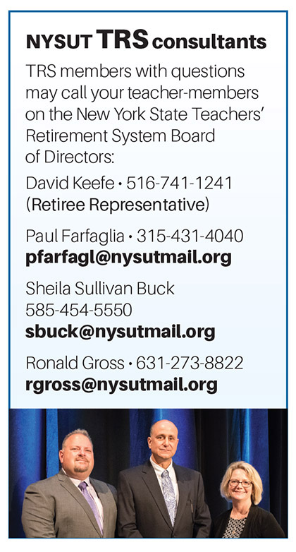 NYSUT TRS consultants
