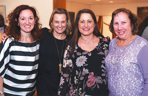From left: Great Neck TA's Theresa Walter is with her mentors Sarah Duke and Gigi Mar¬asco, both Manhasset NBCTs, and Great Neck retiree Eileen Kurinskas, who started a teacher center program to help NBC candidates. Photo from Adelphi University.