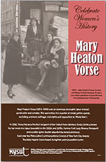 Women's history poster features Mary Heaton Vorse