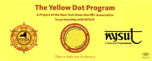 Yellow Dot Emergency Decal