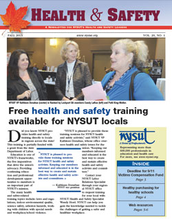 Health and Safety Newsletter - Fall 2013