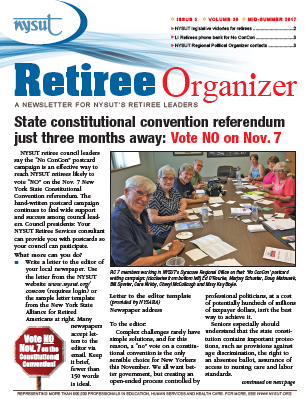 Retiree Organizer - Mid-Summer 2017