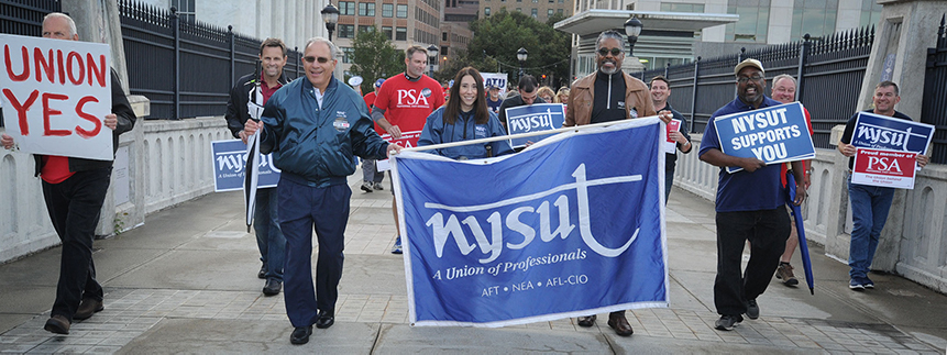 NYSUT Marching