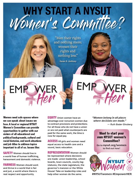 Why start a women's committee