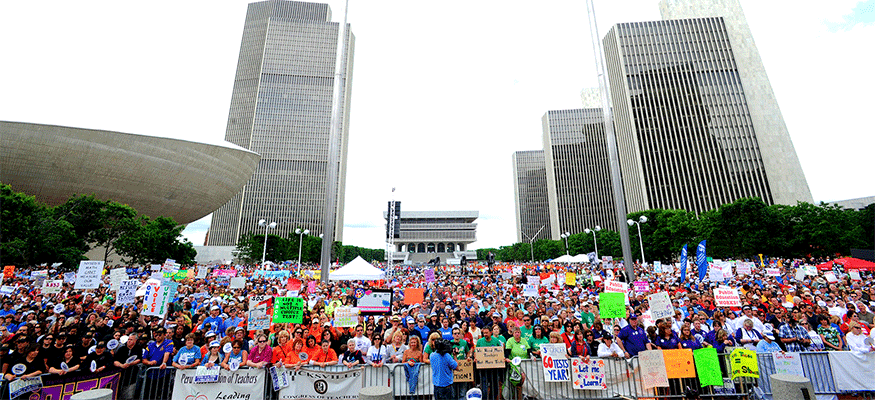 one voice united rally crowd